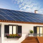 Placas solares para una vivienda unifamiliar